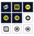 initial letter aa logo set design vector image vector image