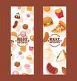 junk food banners website vector image