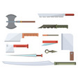 knifes cooking chef meal kitchen utensil lunch vector image vector image
