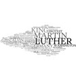 luther word cloud concept vector image
