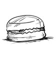 macaron drawing on white background vector image vector image