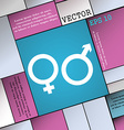 male and female icon sign Modern flat style for vector image vector image