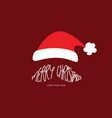 merry christmas santa clause beard typography vector image vector image