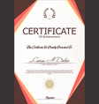 Modern certificate or diploma template