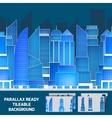 Modern night cityscape tileable parallax vector image vector image