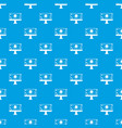 monitor chip pattern seamless blue vector image vector image