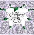 mothering sunday lettering vector image