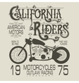 Motorcycle sport emblem vector image vector image