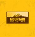 outline logo of mountain landscape line vector image vector image