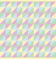 pattern seamless polygon triangle green pink blue vector image
