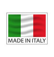 quality mark made in italy colored symbol with vector image vector image