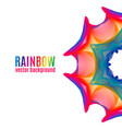 rainbow star background vector image vector image