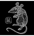 Rat Chinese Zodiac Animal astrological sign vector image vector image