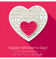 Red background with hearts for Mothers Day vector image vector image