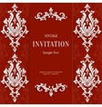red christmas vintage invitation card vector image vector image