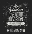 retro emblem baseball division college black vector image