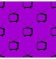 Retro tv web icon flat design Seamless gray vector image