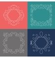Rope frames Decorative nautical frame Marine vector image vector image