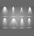 scene illumination collection transparent vector image vector image