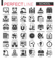 school education black mini concept icons and vector image vector image