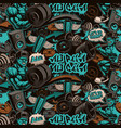 seamless pattern for gym in graffiti style vector image vector image