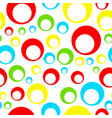 seamless tileable pattern with colorful circles vector image vector image