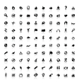 set 100 icons for web vector image vector image