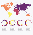 Set of infographics elements in modern flat vector image vector image