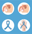 set of movember prostate cancer vector image vector image