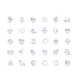 set simple icons dishes vector image