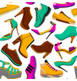 shoes seamless colorful pattern vector image
