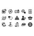 shop cart flight destination and bitcoin icons vector image vector image