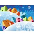 Slogan Merry Christmas vector image vector image
