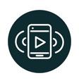 smartphone music audio sound block style icon vector image