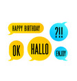 speech bubble set colorful cloud talk speech vector image vector image