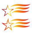 star symbol logo set vector image vector image