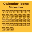 The calendar icon December symbol Flat vector image