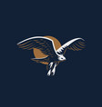 the flying eagle emblem vector image