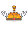 tongue out dustpan character cartoon style vector image vector image
