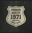 vintage denim typography grunge t-shirt graphics vector image vector image