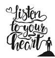 with human silhouette and lettering inspirational vector image vector image