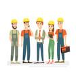 workers team engineers vector image