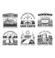 world environment day save earth nature icons vector image