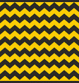 zig zag tile chevron seamless black and yellow vector image vector image