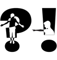 question mark and exclamation mark vector image