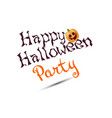 halloween party poster with pumpkins isolated vector image