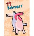 14 February Valentine card vector image