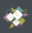 abstract geometric background with white rhombus vector image vector image