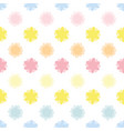 abstract geometric flower dotted line design vector image vector image