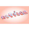 advissor on pink background vector image